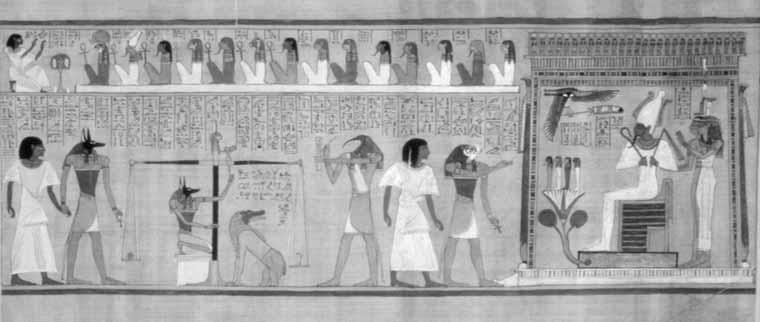 Toward an Anthropology of Apotheosis in Mozart s Magic Flute V 59 Copyright The British Museum Fig. 3. The Weighing of the Souls, a scene from the Book of the Dead of Hunefer, from Thebes, Egypt, ca.
