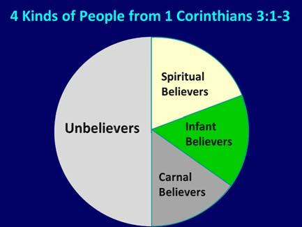 1 Corinthians 3:1 3 (NKJV) 1 And I, brethren, could not speak to you as to spiritual people but as to carnal, astobabes in Christ.