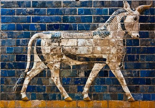Dedication Plaque on the Ishtar Gate Nebuchadnezzar, King of Babylon, the faithful prince appointed by the will of Marduk, the highest of princely princes, beloved of Nabu, of prudent