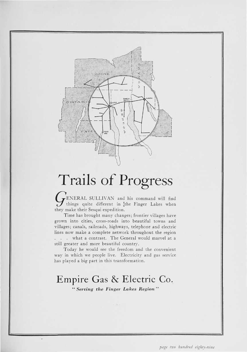Trails of Progress (^j-eneral SULLIVAN and his command will find,3/ things quite different in [the Finger Lakes when they make their Sesqui expedition.