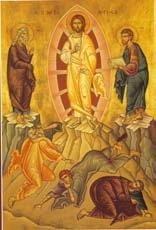 Transfiguration of Our Lord (August 6) The Feast of the Transfiguration on Mount Tabor reveals the glorious light of Christ s divinity.