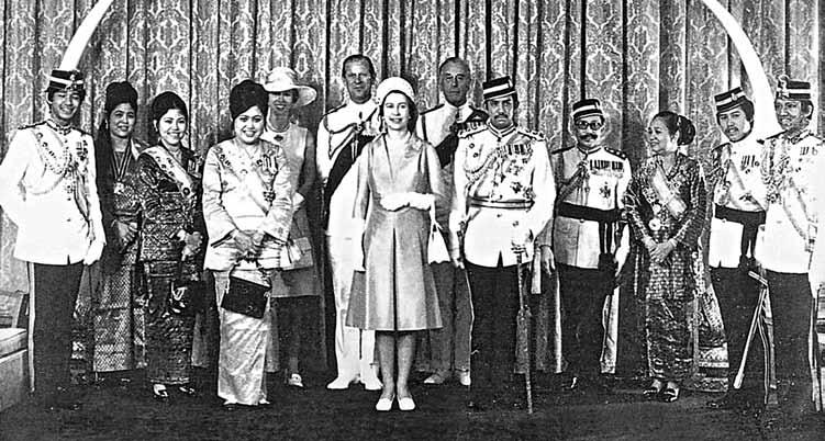 25. The Brunei royal family with the British royal family during HM Queen