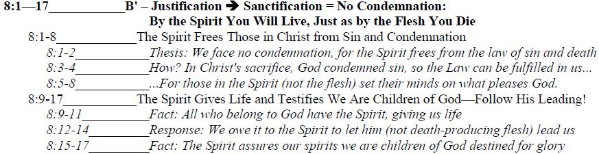 My Mind on the Spirit Law of God No condemnation! I + Spirit 7:25b Conflict Resolved! Flesh Law of Sin Condemnation! 1.