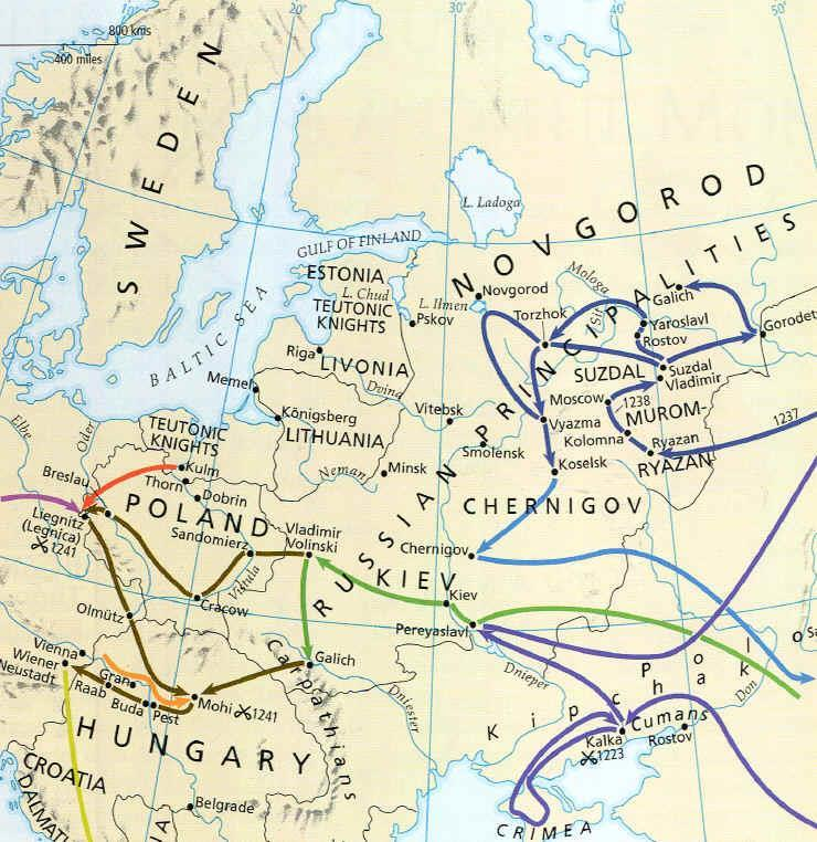 Mongol Effects on Europe Eastern Europe 1.