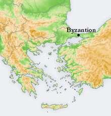 "BYZANTINE EMPIRE IN 5 MINUTES OR LESS Bulgaria Turkey (Constantinople) Constantine I built a ""new Rome"" where the ancient Greek colony of Byzantium used to be."