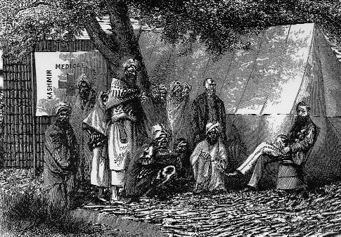 Introduction Figure 1.7 Dispensary Tent of the Cashmere Medical Mission. The Church Missionary Gleaner, November 1874, p.122.