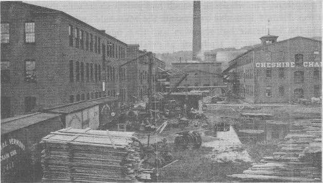 chemical manufacturers, occupy the remaining one-story building. In 1868 the Keene Furniture Co. had been organized, with Edward Joslin as principal owner and Frank L. Sprague as manager.