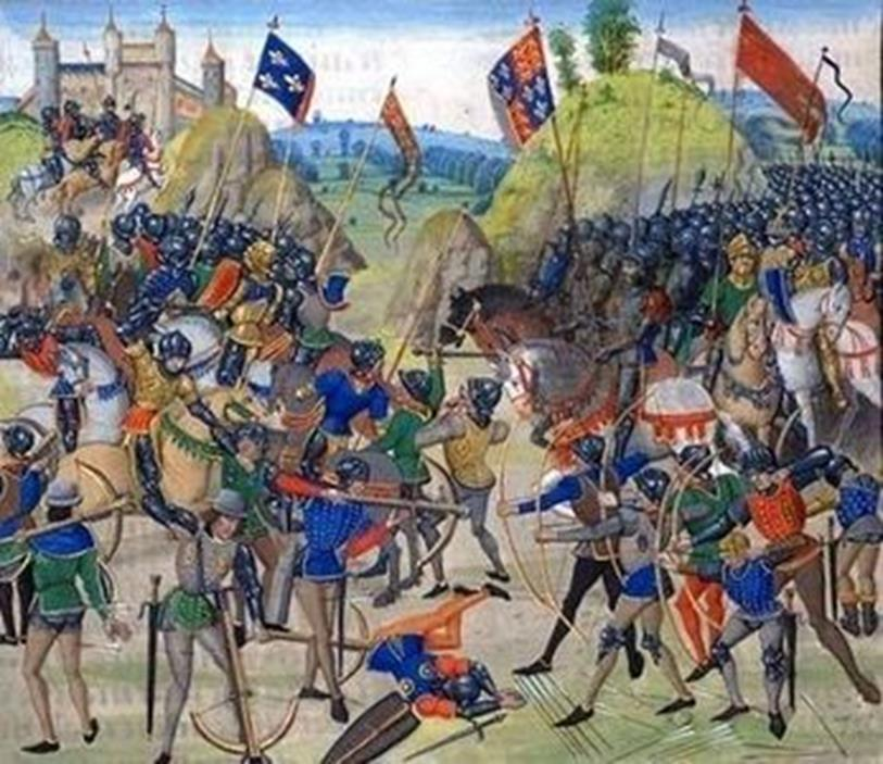 Hundred Years War A war between England and France over succession to the throne.