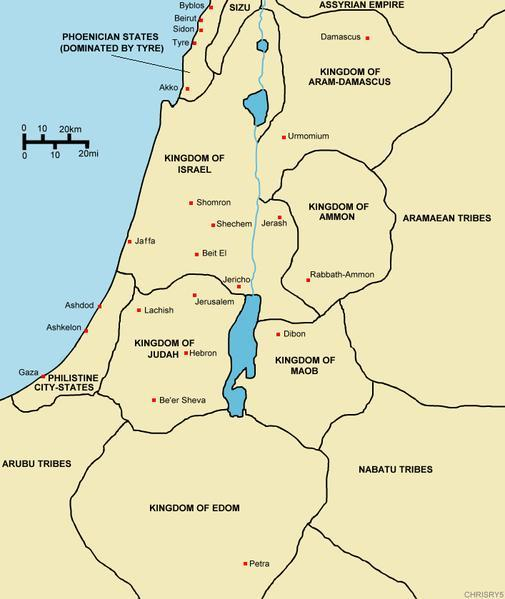 Palestine under control of the Israelites Solomon build s the First Temple in 960 BCE In the four hundred and eightieth year after the people of Israel came out of the land of Egypt, in the fourth