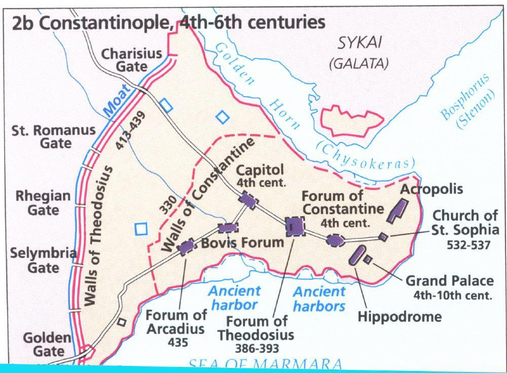 Constantinople was the vital center of the Empire The