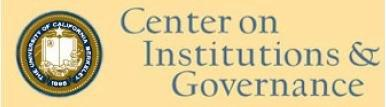 UC-BERKELEY Center on Institutions and Governance Presentation No.