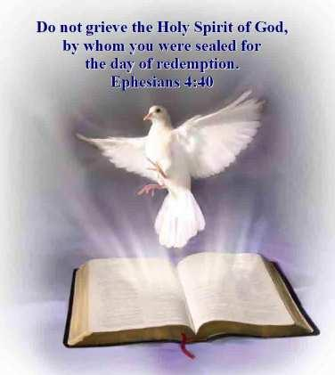 "12. Eph.4:30, ""grieve not the Holy Spirit of God."" From the above we may understand that the Holy Spirit is a distinct person in the Godhead. His titles, offices, and work support this argument."