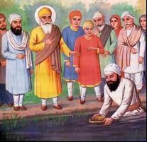 "said, ""See how his clothes have become dirty. Sri Guru Nanak Dev Ji responded, ""It is not dirt, it is saffron. For a moment Mata Sulakhni Ji didn't believe her eyes."