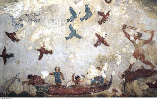 4.5 Etruscan Scene of Fishing and Fowling, c. 520 bce.