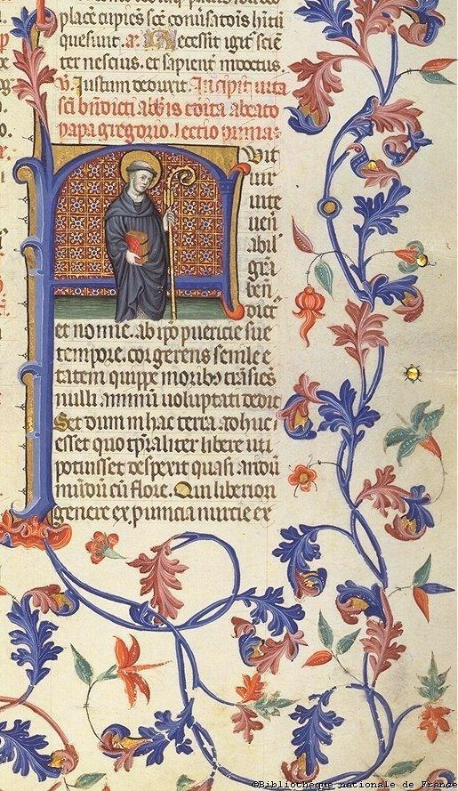 The decorations are of three main types: miniatures or small pictures, into the text or occupying the whole page or part of