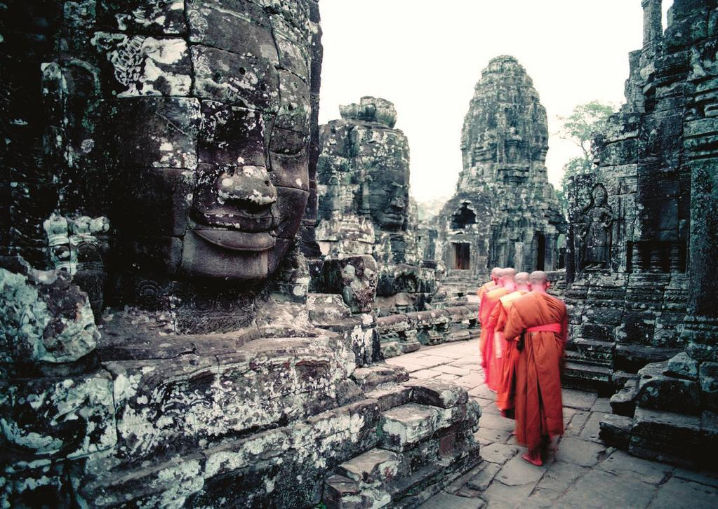 MARCH Cambodia India The Maldives Thailand Laos Sri Lanka Burma Vietnam Nepal UK Bhutan Japan Bayon Temple, Siem Reap, Cambodia Classic Tour of