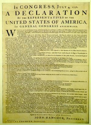 Declaration & Constitution The Declaration of Independence is the why of