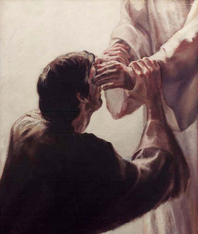 Healing & The Laying On Of Hands The Holy Spirit can be imparted by the laying on of hands, also the presence of the Holy Spirit can bring healing.