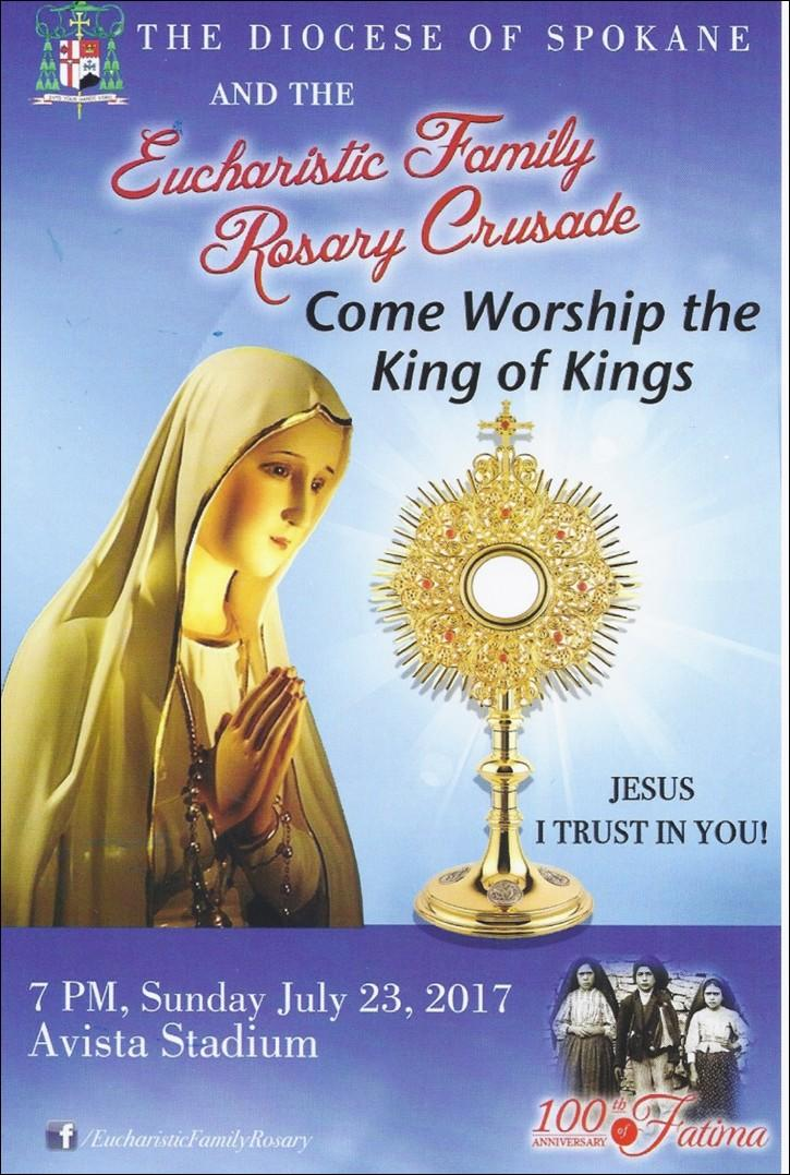 Page 8 Eucharistic Family Rosary Crusade All Council members are urged to attend the Eucharistic Family Rosary Crusade with their families. Please remember to wear your Council vest.