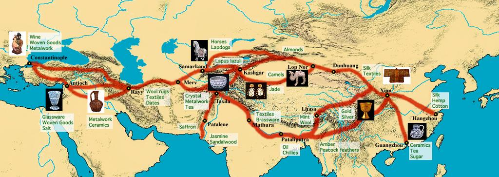 C. Where were Muslim Trade Routes Located? What was the impact of Muslim trade?