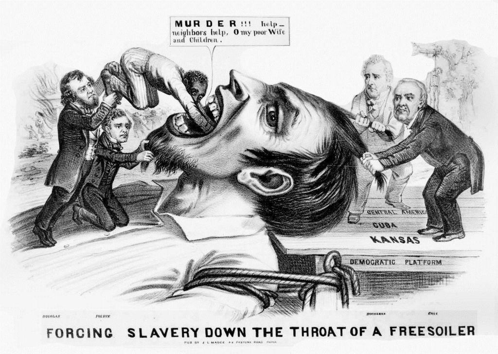 Bleeding Kansas Billboard Following the controversial Kansas-Nebraska Act of 1854, antislavery northern settlers rushed into Kansas in an attempt to sway the popular vote against slavery.