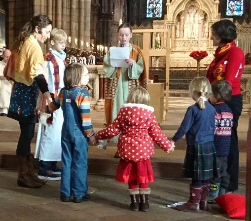At the end of the service, the play church was officially declared