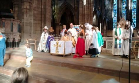 Young Church will present a Nativity Procession/Play in place of the sermon.