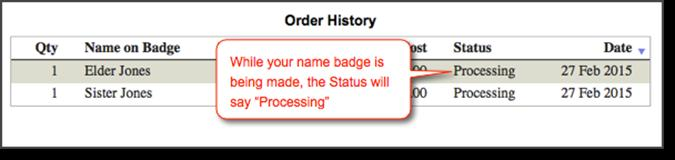button Reviewing your order history: After you have submitted your order, you can