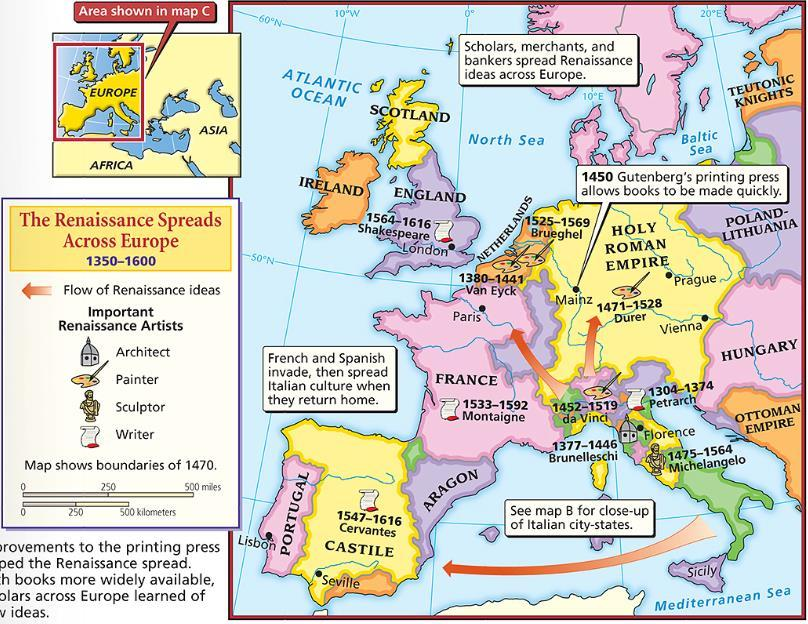 Western Europe The emerged Renaissance from the Middle Ages during an era known as the Renaissance From 1300 to 1600, Western Europe experienced a rebirth in trade,