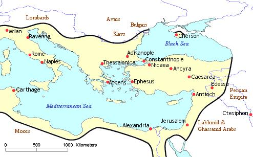 Roman Empire Divides into East and West (West)