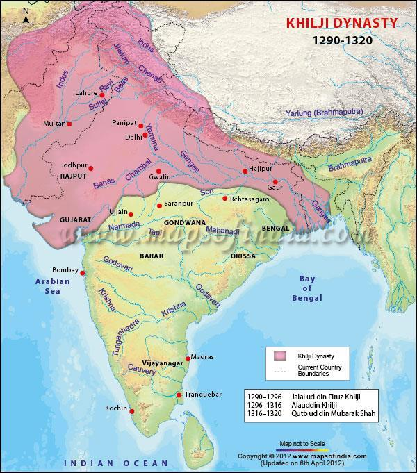 Khilji dynasty able to conquer most of central India failed to unite the Indian subcontinent.
