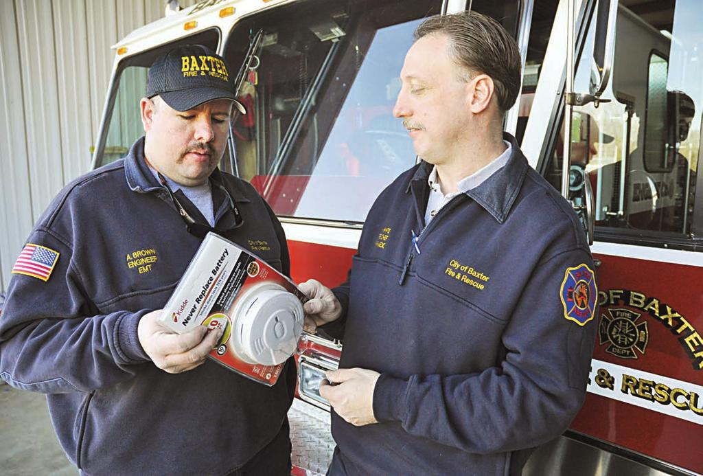 Baxter to offer free smoke detectors and installation By MEGAN TROTTER HERALD-CITIZEN Staff BAXTER According to the State Fire Marshal s Office, Tennessee ranks in the top 10 states in fire mortality.