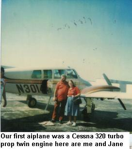the prophesy that was given to me by the pastor on Red Arrow road 3 years previously? It had come true and we had our own private twin engine plane.