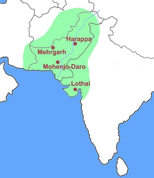 1. Two major cities, Harappa and Mohenjo Daro,
