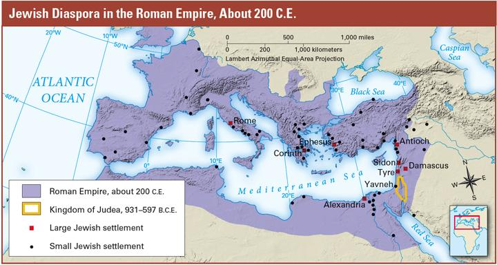 In 66 C.E., the Jews rose up against the Romans. For three years, they managed to keep the Romans out of Jerusalem. Then, in 70 C.E., a Roman military leader named Titus led an army of 60,000 soldiers against the Jews.