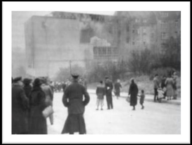 Photo card 6 Destruction of the synagogue and the Jewish community today On the 10 November 1938, the eight year old reform synagogue in Plauen was set on fire and destroyed as part of