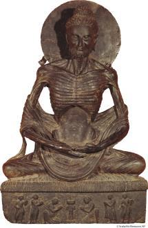 5.13 Buddha calling on earth to witness, 9 th century ce (Pala period, 750-1197 cd). Bihar, India. Basalt, 18 7/8 (48 cm) high.