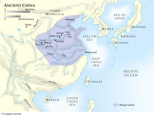 Map 5.2 Origins of Civilization in China Shang Dynasty (1520-1027 B.C.E.) Bronze craftsmanship Trade, commerce Metalworking Zhou Dynasty (1046-221 B.C.E.) Emperors coordinated separate kingdoms Period of the Warring States (475-221 B.
