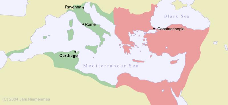 The Byzantine Empire Mostly located in the Eastern Mediterranean basin Capital =