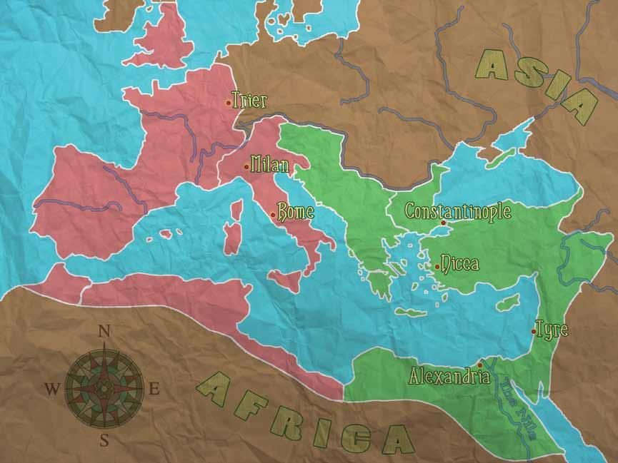 Map Created by Tom Carroll ATHANASIUS 4 When Athanasius was born, the Roman Empire was