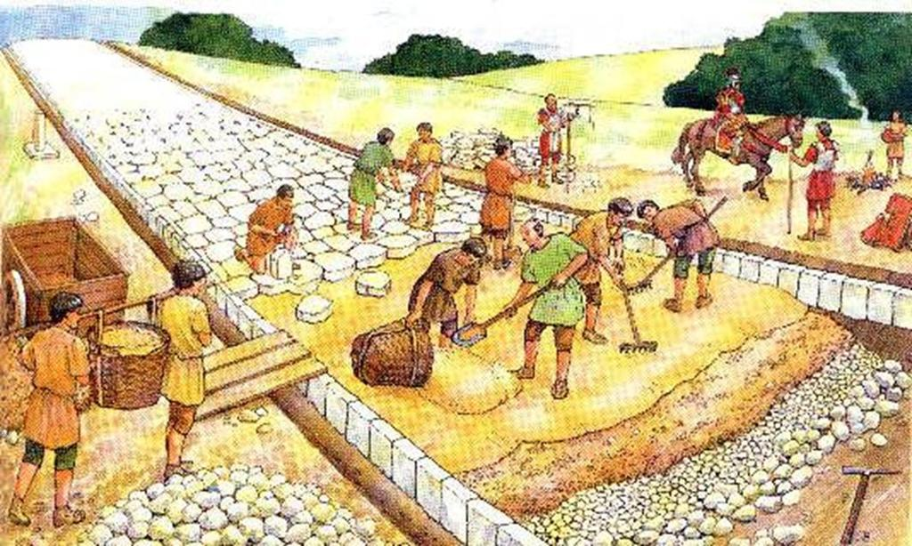 Roman Engineering: Roads At first, the roads were built to move soldiers quickly, but