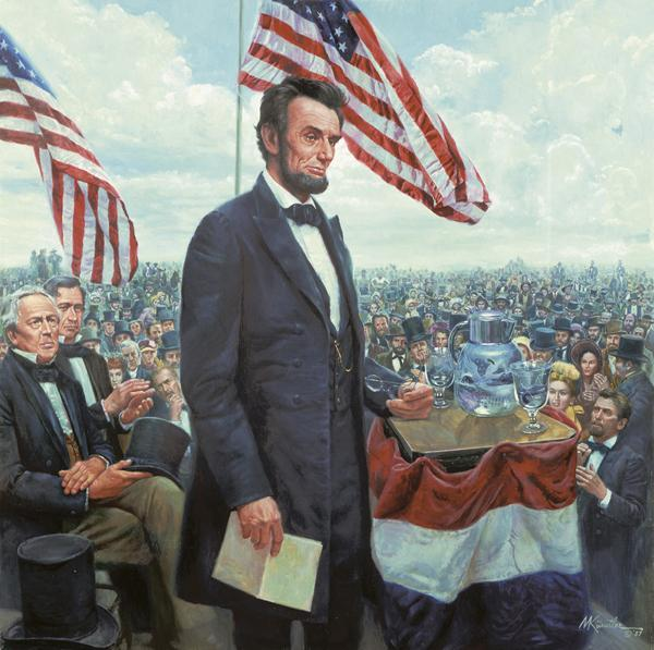 G is for Gettysburg Adress Abraham Lincoln delivered the Gettysburg Address on November 19, 1863 in Gettysburg,