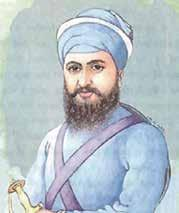 Chapter 2 Bhai Maharaj Singh Ji The Saint Soldier Bhai Bir Singh s Dera was practically a military camp, for, he had attending to him a volunteer army of 1,200 musket men and 3,000 horsemen.