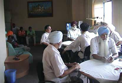 One such programme is the Programme for the Aged and Physically Challenged (APC) where volunteers ferry physicallychallenged Sikhs to and from the Gurdwara