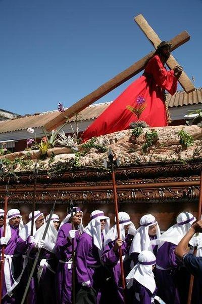 Background Information Semana Santa means Holy Week, the week leading up to Easter Processions depict scenes from the Bible.
