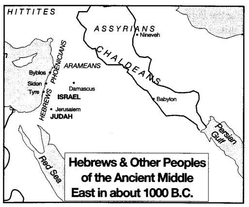 Recall that after the Hittite invasions, Hammurabi s Mesopotamian empire fell apart. Phoenicians and Hebrews were among the groups that now inhabited the area.