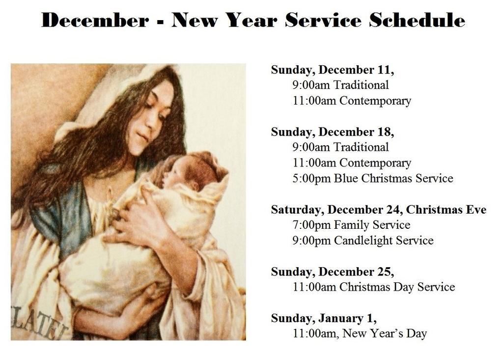 Candlelight Service 9:00 PM Candlelight Service  31, New Year