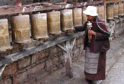Prayer Wheels used to
