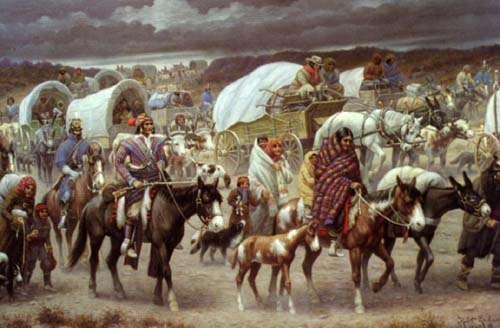 Indian Policy Congress passed Indian Removal act in 1830 Moves all Indians west of Mississippi Cherokee Nation vs.