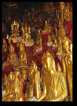 Be awe-struck by the mystical and rich history of the Shwe Nan Daw Kyaung (Golden Palace Monastery); made entirely out of teak wood in the mid-nineteenth century, it is one of the few relics that